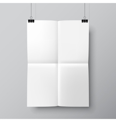 Blank Folded Poster Template vector