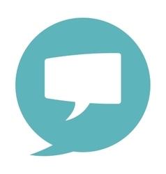 Blue conversation bubble vector