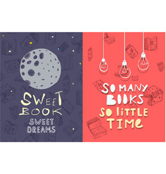 Books quotes leaflets designs vector