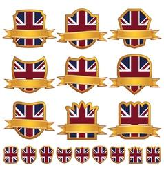 British emblem shields vector image