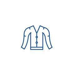 Cardigan line icon concept cardigan flat vector