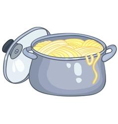 cartoon home kitchen pot vector image