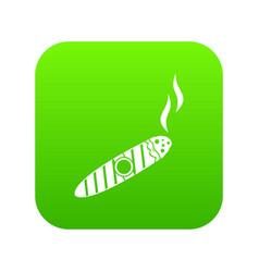 cigar icon digital green vector image