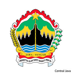 Coat arms central java is a indonesian vector