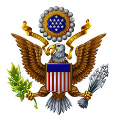 Coat arms united states vector