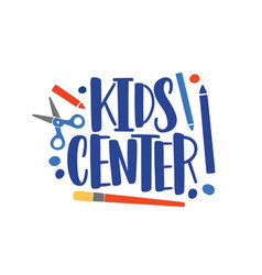 Creative center flat logo children vector