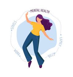 emotional burnout girl needs psychological help vector image