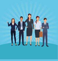 executive men cartoon vector image