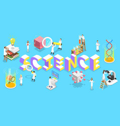 Flat isometric concept scientific vector