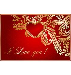 Floral valentine card vector