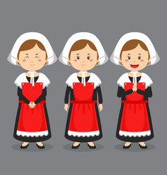 French character with various expression vector