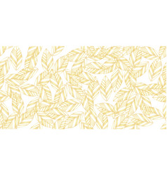 gold leaves seamless vector image