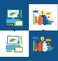 Graphic design creativity creative thinking vector
