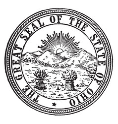 great seal state ohio vintage vector image