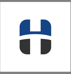 h initial logo design letter abstract vector image