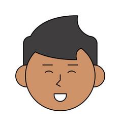 happy man cartoon icon image vector image