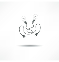 Lamp and plug vector