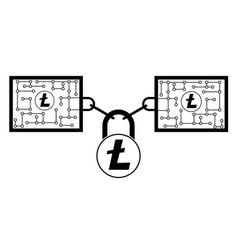 Litecoin block chain technology icon disign vector