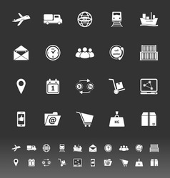 Logistic icons on gray background vector image