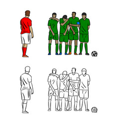 Male soccer player shooting a free kick with vector