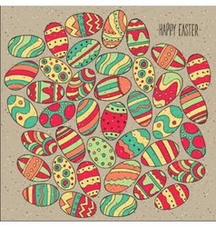 Many Easter eggs vector image