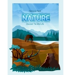 National park nature background banner vector