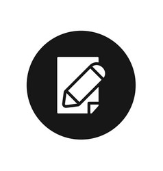 paper pencil icon simple sign for web site and vector image