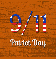 Patriot day in the united states 11 september vector
