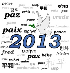 Peace in 2013 vector