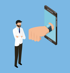 People digital health vector