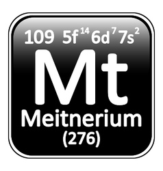Periodic table element meitnerium icon vector