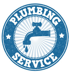 plumbing grunge rubber stamp vector image