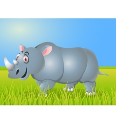 Rhino cartoon vector image