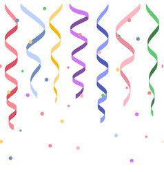 seamless decorative serpentines with confetti vector image