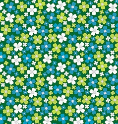 Seamless pattern with stylized flowers floral vector image