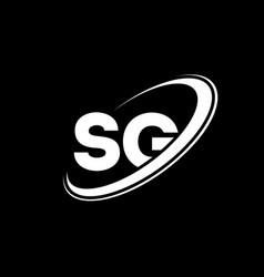 sg s g letter logo design initial letter sg vector image