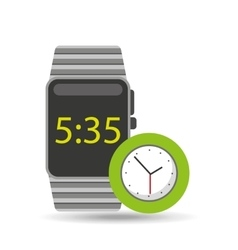 Smart watch technology with clock analog vector