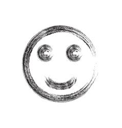 Smile face grunge icon symbol Emoji vector image