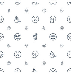 Smile icons pattern seamless white background vector