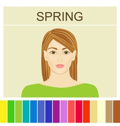 Stock spring type of female appearance vector