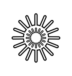 Sun star climate isolated icon vector