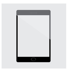 Tablet Black isolated on white vector image