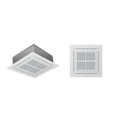 the air conditioning system vector image