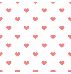 Tile pastel pattern with pink hearts on white vector