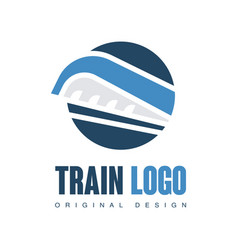 train logo original design railway railroad vector image
