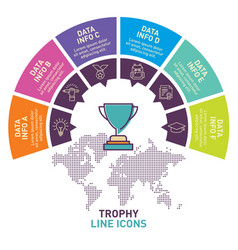 trophy infographic template design vector image