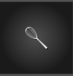 Whisk icon flat vector