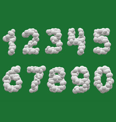 white balls numbers vector image