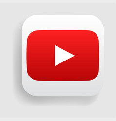 youtube logo icon vector image