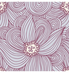 Doodle flower seamless pattern Floral textile vector image vector image
